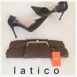 LATICO Leather Clutch Barbi Bag Handbag Purse